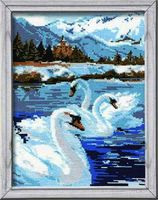 "Вышивка крестом ""Лебеди"" (арт. 662)"