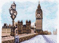 """Канва с нанесенным рисунком """"Лондон"""""""