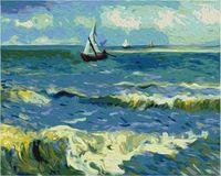 """Картина по номерам """"Ван Гог. Морской пейзаж в Сен-Мари"""" (400х500 мм)"""
