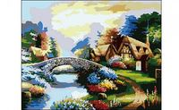 """Картина по номерам """"Домик у моста"""""""