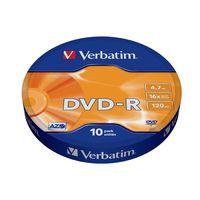 Диск DVD-R 4.7Gb 16x Verbatim Bulk 10