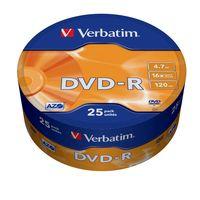 Диск DVD-R 4.7Gb 16x Verbatim (в полиэтиленовой упаковке)