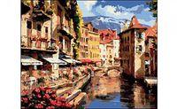 """Картина по номерам """"Европейский город у воды"""" (400x500 мм)"""
