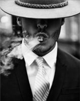 "Алмазная вышивка-мозаика ""Мужчина с сигарой"" (380х480 мм)"