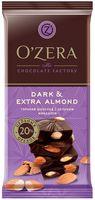 "Шоколад горький ""O'Zera. С цельным миндалем"" (90 г)"