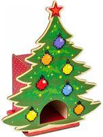 """Алмазная вышивка-мозаика """"Чайный домик. Новогодний"""" (190х110х230 мм)"""