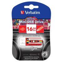 USB FlashDrive 16Gb Verbatim Mini Cassete Edition USB 2.0