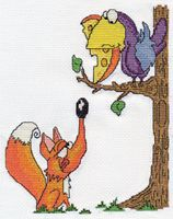 "Вышивка крестом ""Ворона и лисица"""