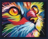 """Картина по номерам """"Красочный кот"""" (400х500 мм)"""