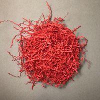 Стружка бумажная (кораллово-красная; 50 г)