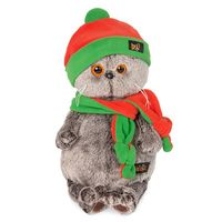 """Мягкая игрушка """"Басик в шапке и шарфике"""" (22 см)"""