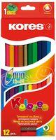 """Набор карандашей цветных """"Kores Kolores Duo"""" (12 шт.; 24 цвета)"""