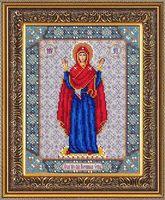 """Вышивка бисером """"Пресвятая Богородица Нерушимая стена"""""""