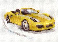 "Вышивка крестом ""Желтый спорткар"""
