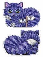 """Вышивка крестом """"Чеширский кот"""" (160х120 мм)"""