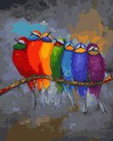 "Картина по номерам ""Радужные птицы"" (400х500 мм)"