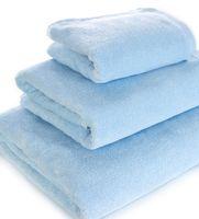 Полотенце махровое (50x90 см; голубое)