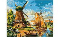 "Картина по номерам ""Мельница"" (400x500 мм)"
