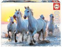 """Пазл """"Белые лошади на закате"""" (1000 элементов)"""