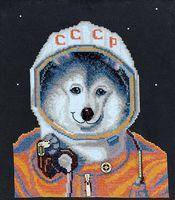 """Вышивка крестом """"Космонавт"""" (225х195 мм)"""