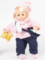Кукла с медвежонком и бутылочкой