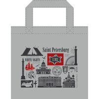 """Сумка """"Санкт-Петербург"""" (34x34 см; серая)"""