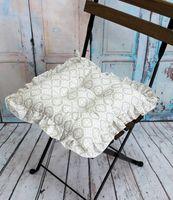 "Подушка на стул ""Ажур"" (35х35 см; молочная)"