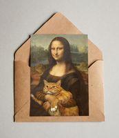 """Открытка """"Мона Лиза"""" (арт. 448)"""