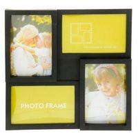 Рамка для фото пластмассовая на 4 фото (27,5х27,5 см)