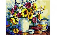"Картина по номерам ""Натюрморт с подсолнухами"" (400x500 мм)"
