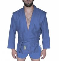 Куртка для самбо AX5 (р. 30; синяя; без подкладки)