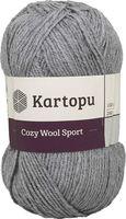 "Пряжа ""KARTOPU. Cozy Wool Sport №K1001"" (100 г; 280 м; серый)"