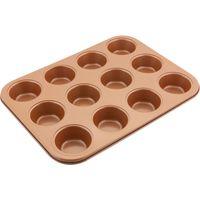 """Форма для выпекания кексов металлическая """"Copper"""" (350х260х30 мм)"""