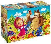 """Кубики """"Маша и Медведь"""" (6 шт.)"""