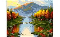 "Картина по номерам ""Осень в горах"" (400x500 мм)"