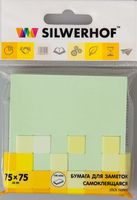 """Бумага для заметок """"Silwerhof"""" (75х75 мм; зеленая)"""