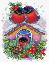 """Вышивка крестом """"Зимний домик"""" (230x180 мм)"""