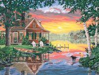 """Картина по номерам """"Хижина и закат"""" (410х510 мм; арт. DMS-91315)"""