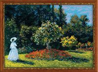 "Вышивка крестом ""Моне. Дама в саду"" (арт. 1225)"