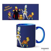 "Кружка ""Хэллоуин Симпсоны"" (531, голубая)"