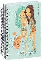 """Блокнот на спирали """"Cute Girls"""" (А6; 80 листов; твердая обложка)"""