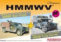 "Набор миниатюр ""HMMWV M998 Gun Truck & HMMWV M998 Troop Carrier Twin Pack"" (масштаб: 1/72)"
