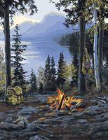 "Картина по номерам ""Пикник в горах"" (400х500 мм)"