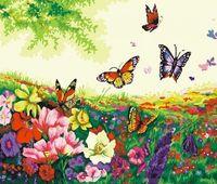 "Картина по номерам ""Порхание бабочек"" (400x500 мм; арт. MG250)"