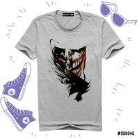 """Футболка серая унисекс """"Бетмен и Джокер"""" XL (арт. 046)"""