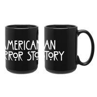 """Кружка большая черная """"Американская история ужасов"""" (арт. 135)"""