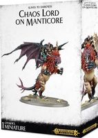 Warhammer Age of Sigmar. Slaves to Darkness. Chaos Lord on Manticore (83-16)