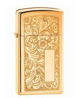Зажигалка Zippo 1652 B. Venetian Slim. High Polish Brass