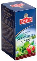 """Чай черный """"Riston. Клубника и мята"""" (25 пакетиков)"""