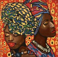 "Алмазная вышивка-мозаика ""Африканская мода"" (380х380 мм)"